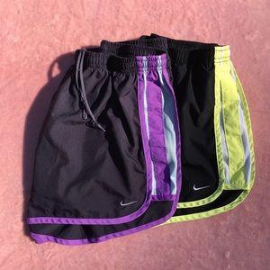 2 pairs Nike girls' DriFit shorts, size L